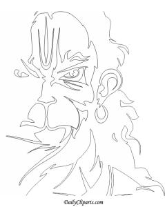 Hanuman Ji Drawing Coloring