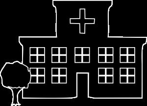 Hospital Black Line Art Icon Image