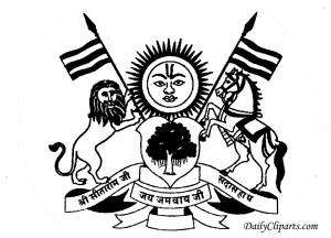Jai Jamwai Mata Jawma Ramgarh SunTiger Horse Rajput logo