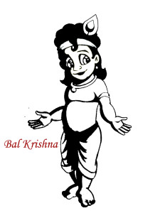 Krishna as Kid Image