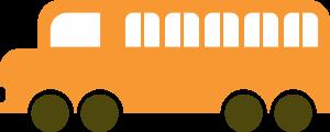 Orange School Bus Clipart Icon Free for Download Print