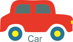Red Car Clipart Image