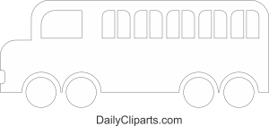 School Bus Coloring Page for Kids Image