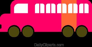 School Bus Pink Orange Mix Image