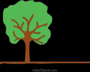 Tree on Land Clipart Image