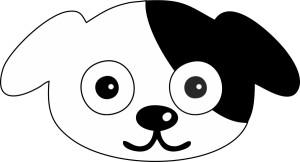 Black and White Dog Face Image