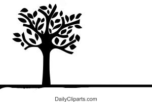 Tree Leaves Black Art