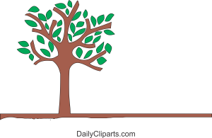 Tree and Leaves Clipart