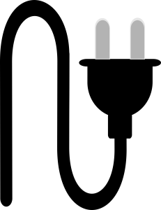 Two Point Plug Wire Icon Image