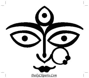 Durga Image for Wedding Card Printing