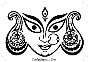 Durga Maa Eye Face Image