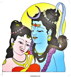 Shiva Parvati Loving Image