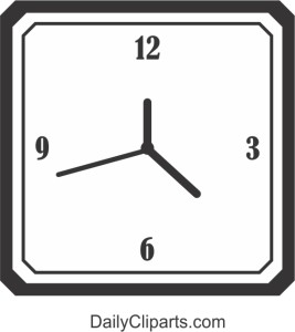 Black White Wall Hanging Clock Picture