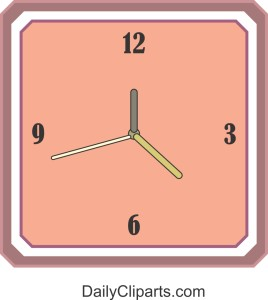 Wall Clock Color Clipart Image