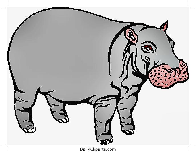 Hippopotamus Clipart